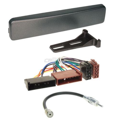 Autoradio Einbauset 1-DIN Ford Focus 98-04 Kabel Einbaurahmen anthrazit