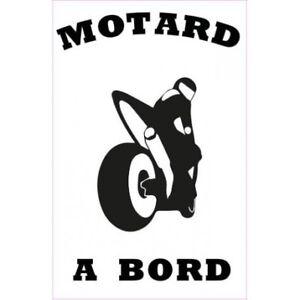 Autocollant-Motard-a-Bord-moto-sticker-Taille-8-cm-couleur-marron