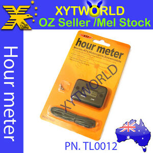 Details about TL0012 Inductive Hour Meter for Marine ATV Motorcycle Dirt  Ski Engine waterproof