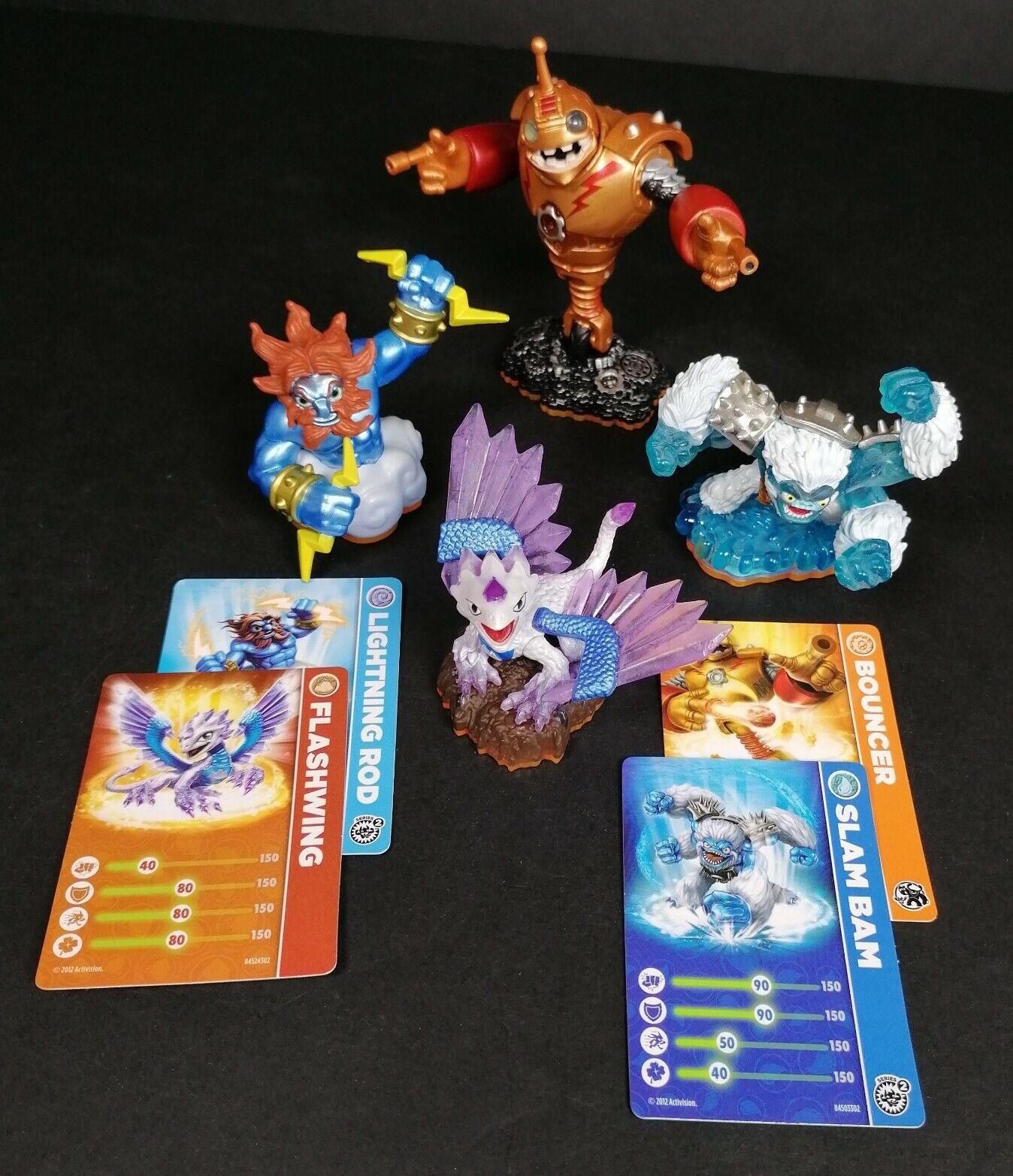 Skylanders Giants Battle 4x Figure Bundle 4x Cards Age 6+ Flash Wing Bouncer