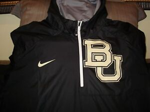 c9b0db0bfe35d Baylor Bears Nike Lightweight Repel Fly Rush 1 2 Zip Hoodie Jacket ...