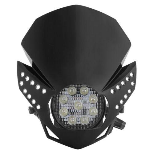 Acerbis LED Fulmine Headlight BLACK 2676220001 Motorcycle Lighting ...