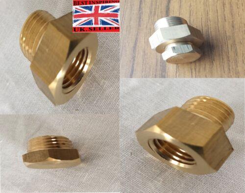 Sump Plug Sensor Adaptor Oil Temperature Gauge Spark Sender Drain Plug Brass