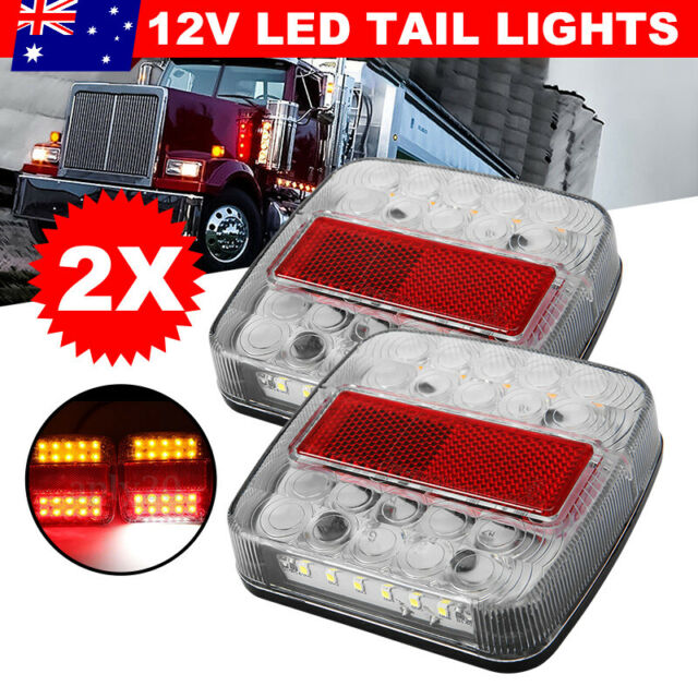 2X 26 LED Trailer Tail Lights 12V Stop Indicator Lamp UTE Truck Number Taillight
