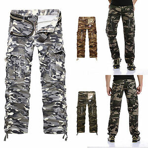 homme pantalons de travail camo arm e cargo combat camouflage treillis ebay. Black Bedroom Furniture Sets. Home Design Ideas