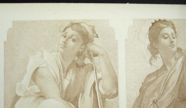 Photogravure Of 1874 Melpomene Euterpe Clio Housewife of the Opera Per P Baudry