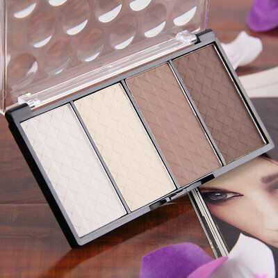 4 in 1 Four Color Contour Shading Pressed Powder Highlight Make-up Cosmetic P2