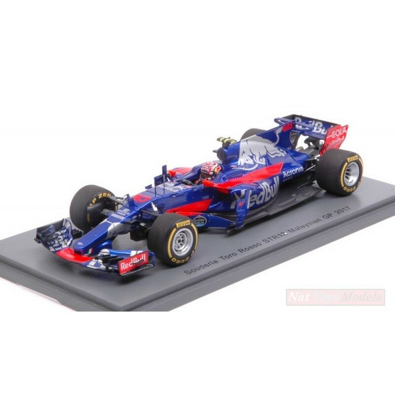 SPARK MODEL S5051 TORO ROSSO P.GASLY 2017 N.10 14th MALAYSIAN GP 1:43 DIE CAST