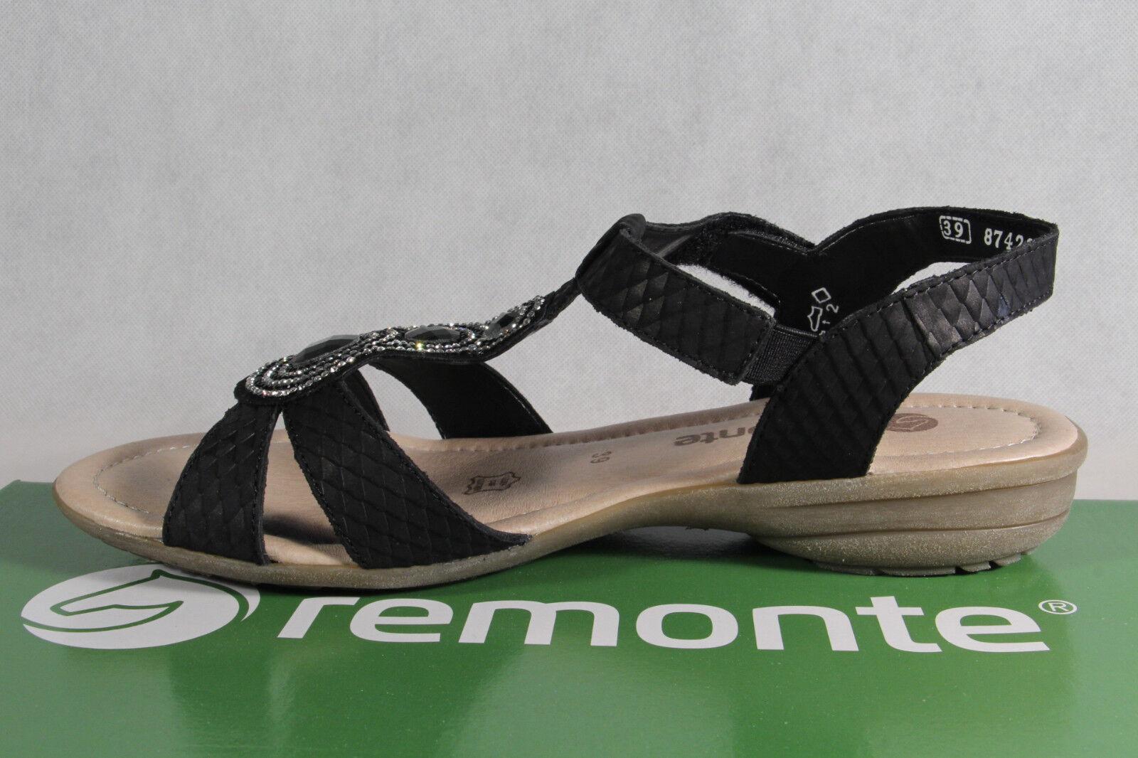 Remonte schwarz Sandale Sandaletten schwarz Remonte Lederfußbett ... ... ... df5dff