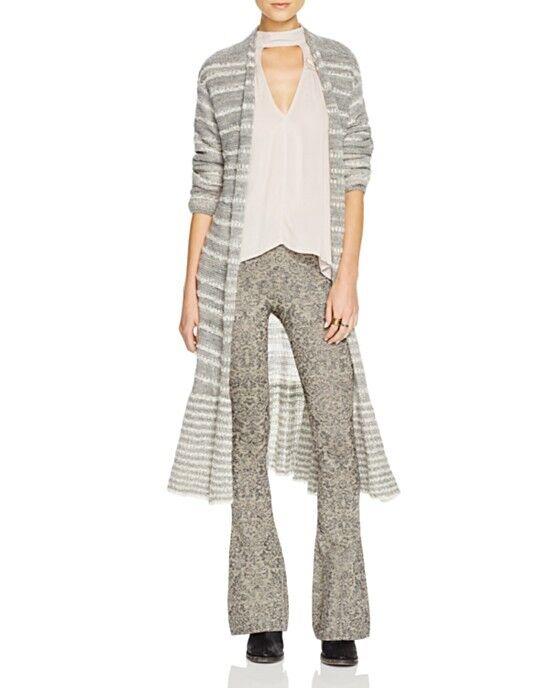 NWT Free People Lurex sweater flare Metallic Pants Retail  128