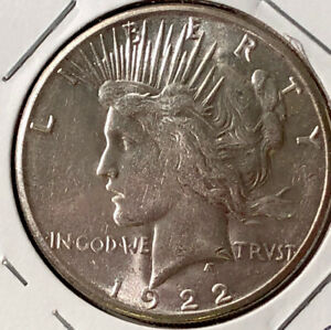 1922 S Peace Silver Dollar UNCIRCULATED
