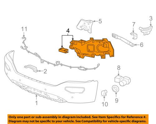 GMC GM OEM 16-18 Sierra 1500 Front Bumper-Support Bracket Right 23381978