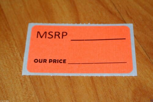 LOT 100 ORANGE MSRP OUR PRICE Sales Price Labels Stickers Tags Retail Store