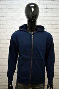 Felpa-Cardigan-Blu-Uomo-LEVI-039-S-Taglia-Size-XXL-Pullover-Sweater-Man-Maglione
