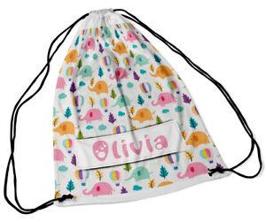Backpacks & Bags Personalised Drawstring Bag Any Name Elephant Swimming School Nursery Pe Boys' Accessories