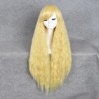 Rhapsody Curly Fluffy 5 Colors Multiple List Cosplay Hair +Free Wig Cap
