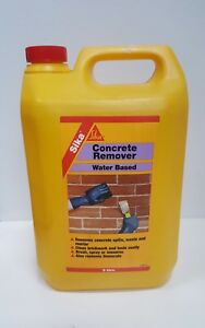 Details about Sika Concrete Remover Water Based Removes Concrete Spills  Waste And Mortar 5L