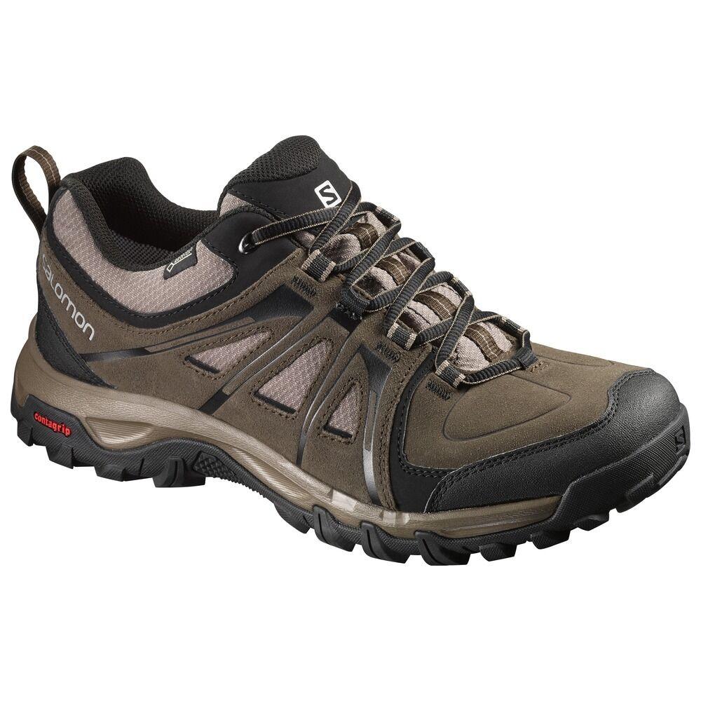 Schuhe Basse Trekking Escursionismo  SALOMON EVASION GTX Absolute Braun Uk 11 46