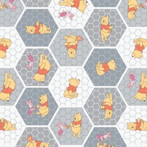 Coupon de  Tissu Disney Winnie l/'Ourson 45x55cm