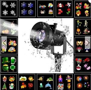 FARETTO-8W-remoto-Luce-di-Natale-di-Scena-Proiettore-per-Festa-Impermeabile