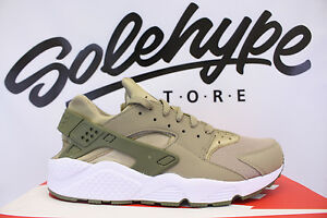 quality design e7f93 342d4 Image is loading NIKE-AIR-HUARACHE-RUN-KHAKI-MEDIUM-OLIVE-WHITE-