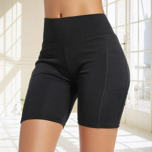 Details about  /Capri Yoga Pants Cropped Leggings Women High Waist Fitness Gym Workout Trousers