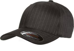543cbe15724 Image is loading 6195P-Flexfit-Pinstripe-Fitted-Baseball-Blank-Plain-Hat-