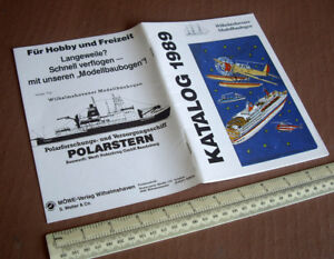 Wilhelmshavener Modellbaubogen 1989 Catalogue of Cut-Out Model Kits. Very Fine.