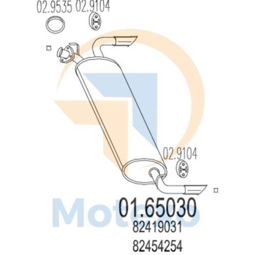 Mts 01.65030 escape Lancia Delta 2.0ie Hf Integrale Turbo 196bhp 01//90-12//91