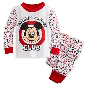 Disney Mickey Mouse Club Baby Pajamas NWT 100% Cotton size 3-6-9-12-18 Months