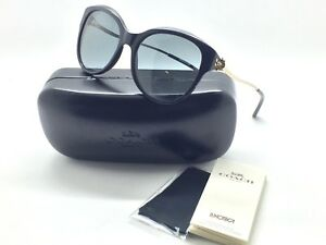 Coach-Women-Sunglasses-HC8189F-530887-Black-Light-Gold-Frame-Size-55-17-135