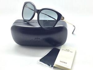 Coach-Women-Sunglasses-HC8189F-530887-Black-Light-Gold-Frame-Size-55-17-135