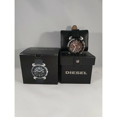 Diesel On Herren Hybrid Smartwatch Armbanduhr Lederarmband 5ATM 47mm iOS And OVP