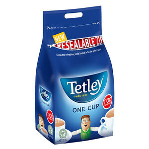 """Diplomatique Tetley Tea Intercalaires 1100 One Cup 2.5 Kg Restauration En Vrac Sac """"lovely Cuppa Tea""""-afficher Le Titre D'origine ChronoméTrage Ponctuel"""