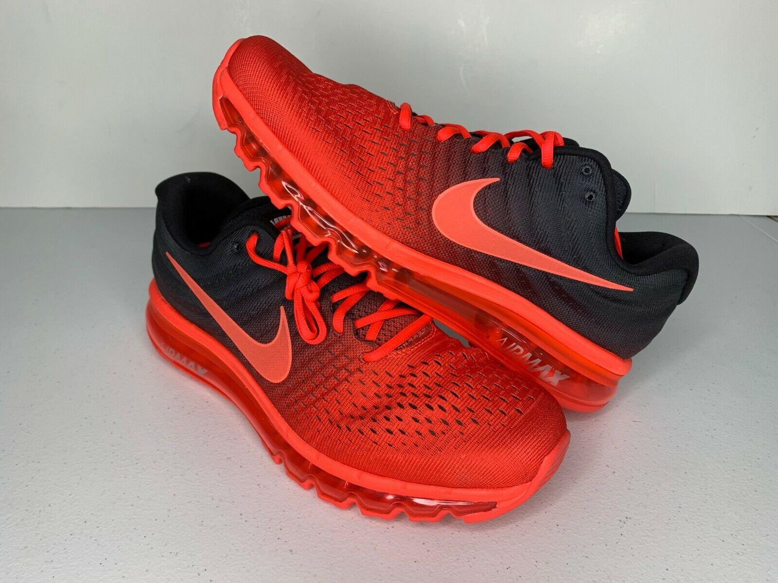 NEW Size 11 Nike Air Max 2017 BRIGHT CRIMSON BLACK Running shoes 849559-600 Men