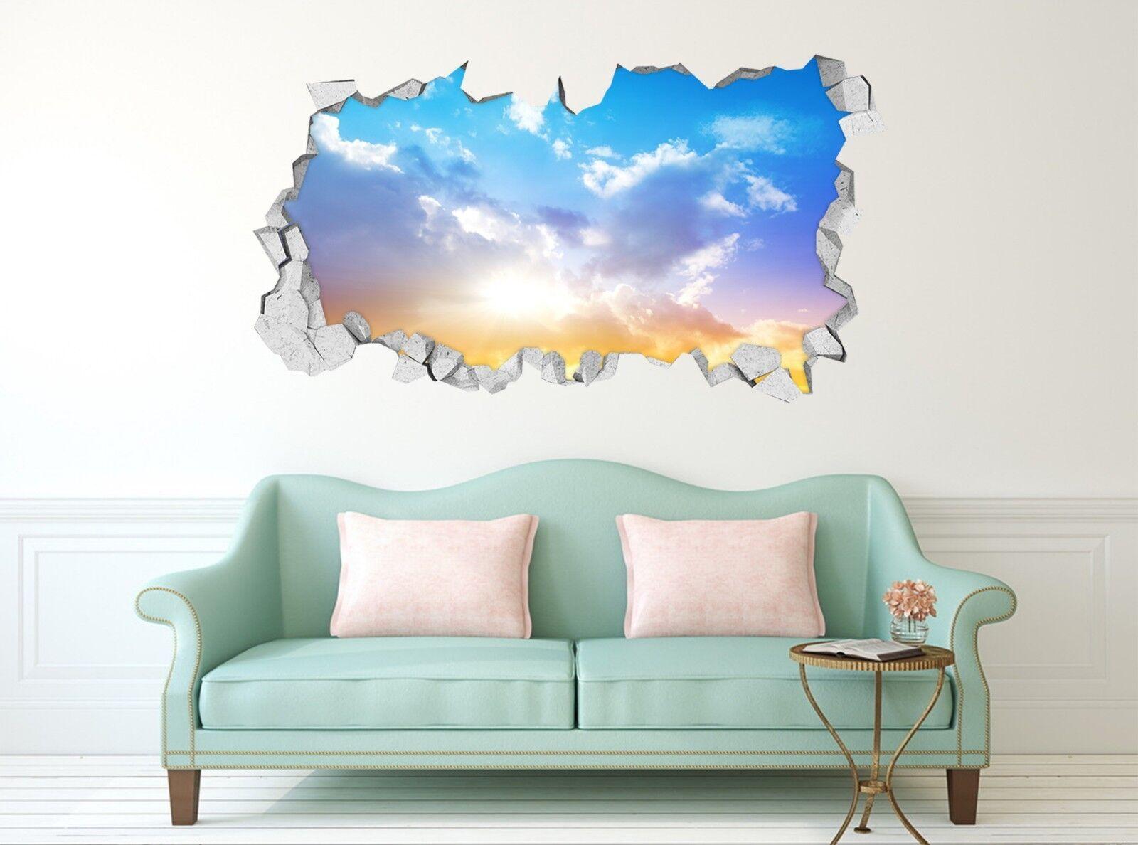 3D Helle Sonne 100 Mauer Murals Mauer Aufklebe Decal Durchbruch AJ WALLPAPER DE