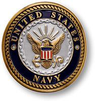 U.s. Navy - Usn Hiking / Walking Stick Medallion