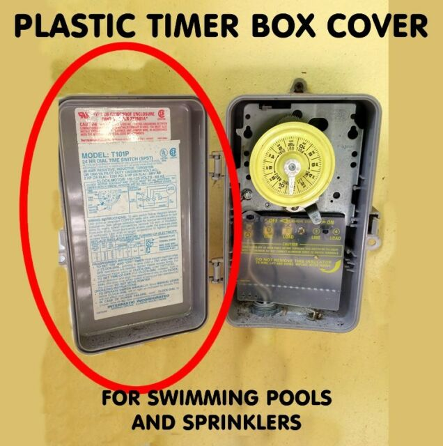 SWIMMING POOL TIMER DOOR COVER REPLACEMENT -Intermatic T104p3 T104 COVER  ONLY