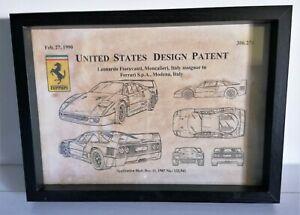 Cadre décoration vintage dépôt de brevet INVENTION FERRARI