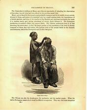 Chinese Barber  -     Macao         -       Admiral Perry Expedition   -    1856