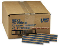 Mmf Industries Heavy Duty Pop-open Flat Paper Coin Wrappers - Nickels, 1,000 Ct