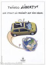 RENAULT TWINGO prospetto LIBERTY 8 98 brochure 1998 AUTO AUTOMOBILI AUTO prospetto