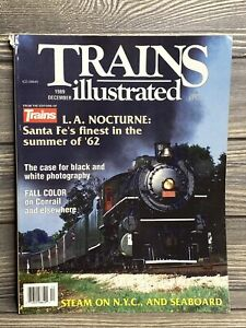 Vintage-Magazine-Trains-Illustrated-December-1989-Railroads