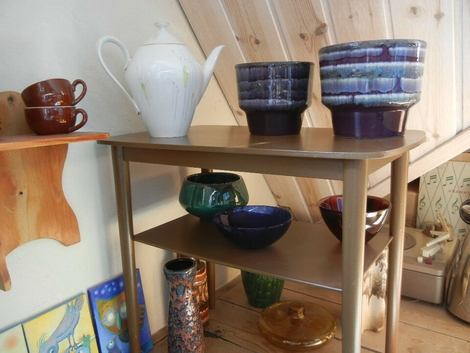 Porcelæn, retro porcelænskande og urtepotter