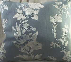 Home Decor Pillow Morning Glories Slate Blue Silver Size 17 Inch Square New Ebay