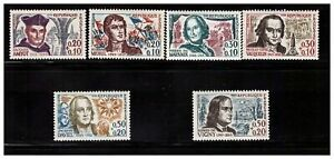 s23354-FRANCE-MNH-1963-Famous-persons-6v