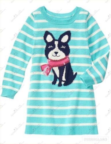NWT Gymboree Snowflake Fun Pup Sweater Dress Size 7 10 12 Cozy Girls Puppy Dog