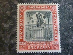 BARBADOS-POSTAGE-STAMP-SG147-ONE-PENNY-LIGHTLY-MOUNTED-MINT