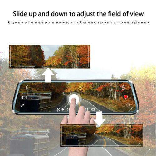 Car Night Vision HD Camera Stream Media Mirror Touch Screen Dash Video Recorder