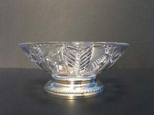 Vintage-Sterling-Silver-Crystal-Glass-Candy-Nut-Dish
